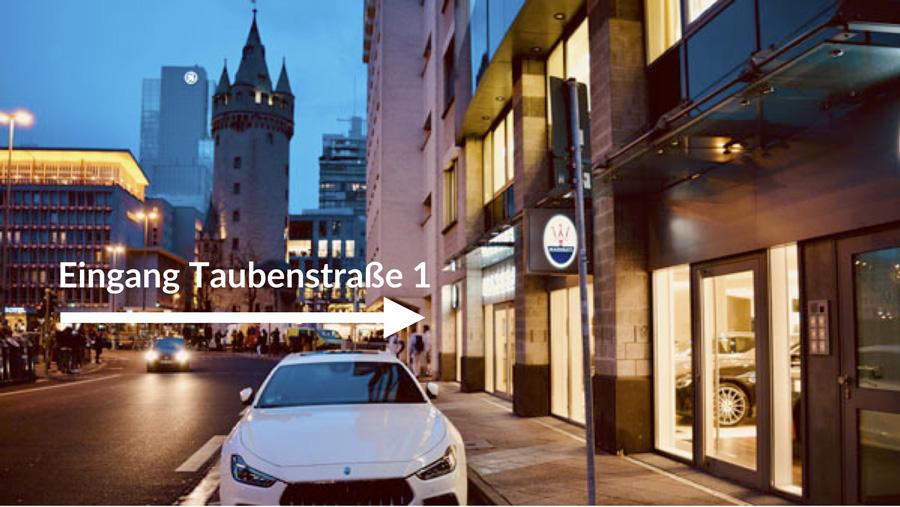 Eingang Taubenstrasse 1